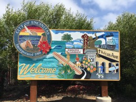 Encinitas Welcome Sign - near Swami's Cafe